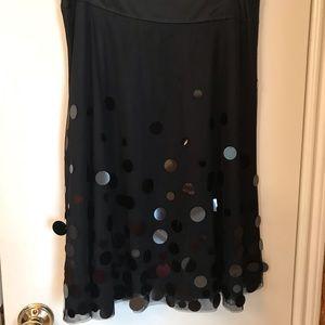 Ann Taylor black party skirt.